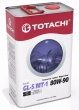 TOTACHI  NIRO  Super Gear минерал. GL-5/MT-1  80/90  (4л.)  + ПЕРЧАТКИ